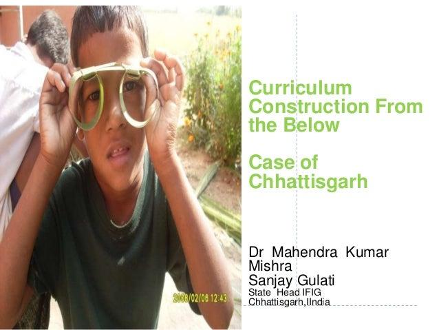 Visioning workshop on  curriculum scf2013