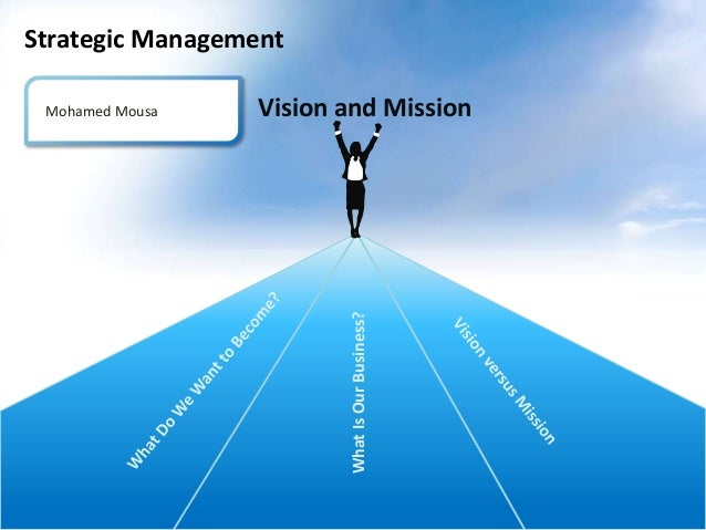 Strategic Management Vision and Mission  What Is Our Business?  Mohamed Mousa