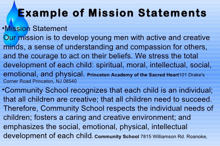 Educational Mission Statement - Term Paper Example