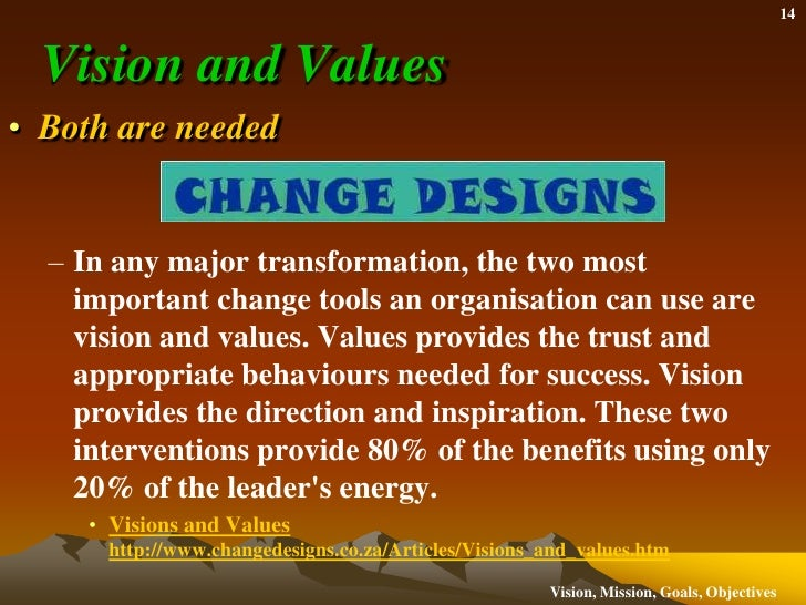developing mission vision and values essay