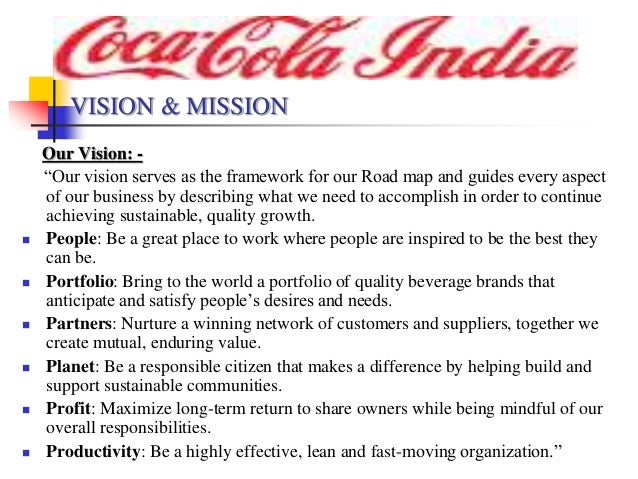 missoin statement of pepsico coca Click on the coca-cola site - here our mission our roadmap starts with our pepsi, coca cola or rc how was coca-cola company's mission statement established.