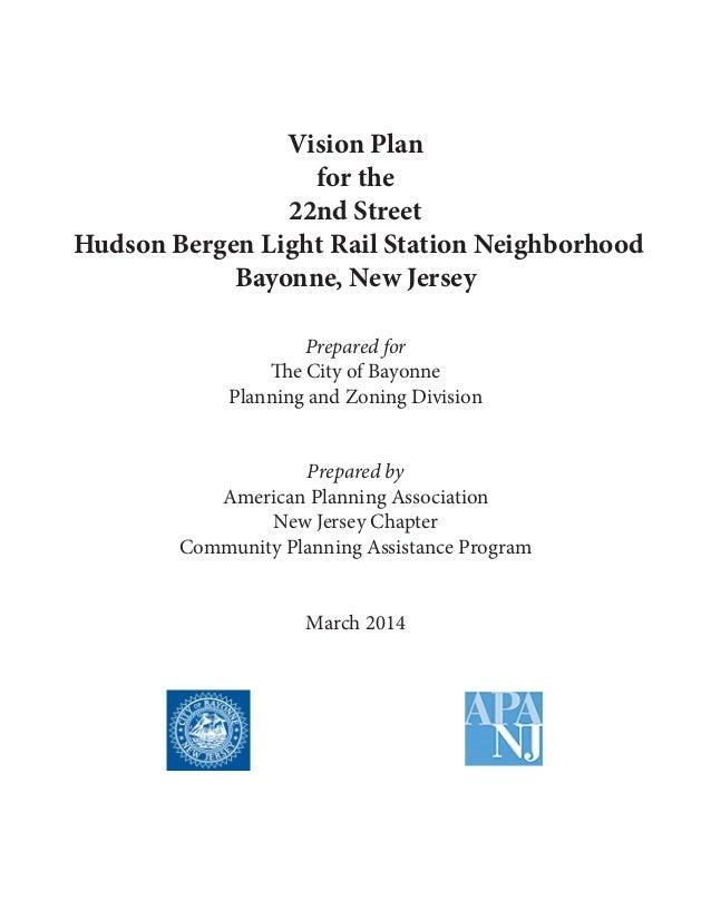 Vision Plan for the 22nd Street Hudson Bergen Light Rail ...