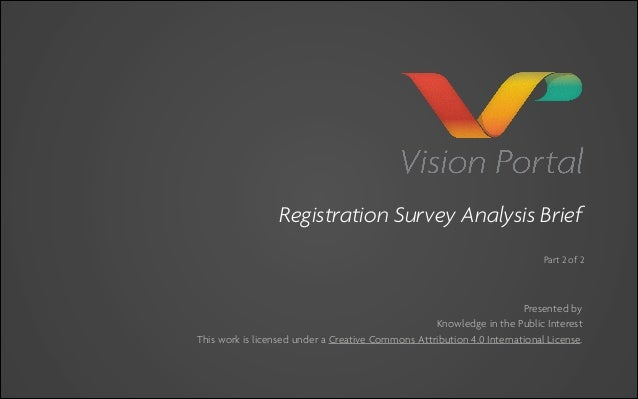 Vision Portal Survey Analysis Brief