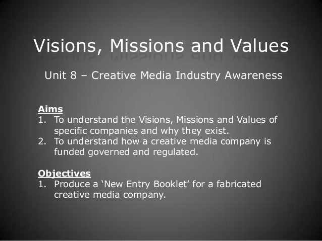 Visions, Missions and Values (DAPS 6)