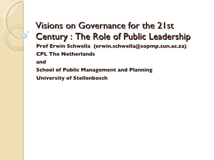 Visions On Governance Cpl
