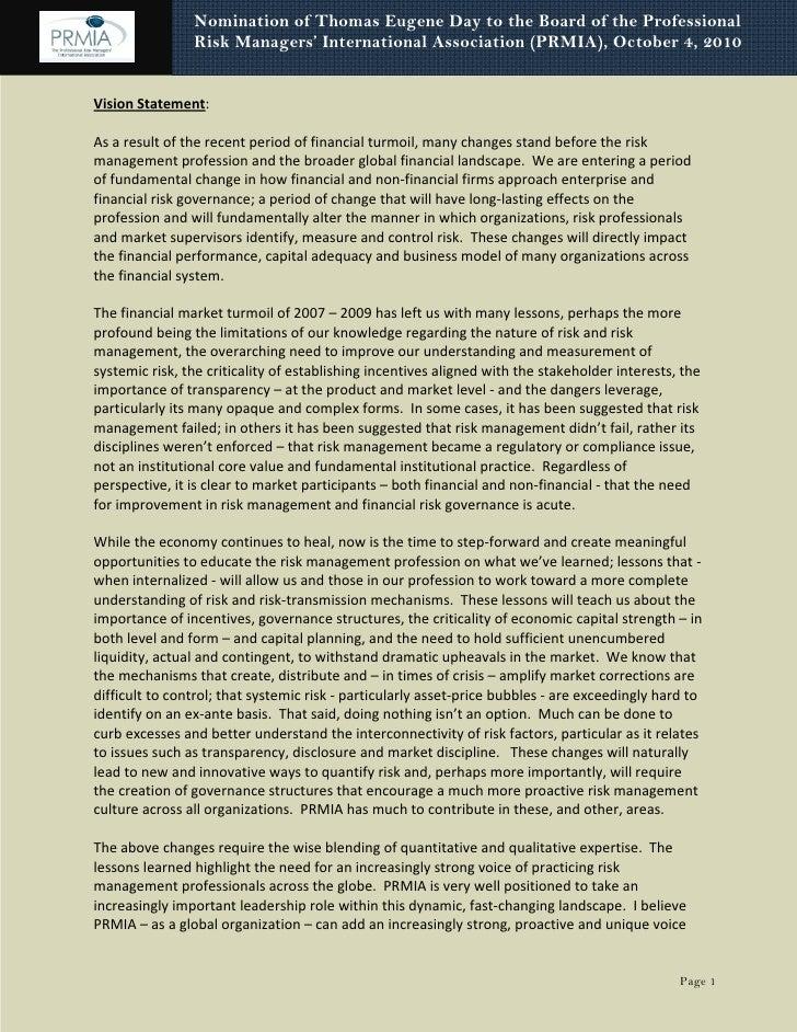 Vision statement detailed