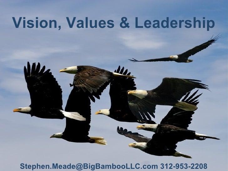 Vision, Values & Leadership Stephen.Meade@BigBambooLLC.com 312-953-2208