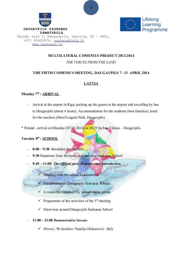 Visit daugavpils programme 2014