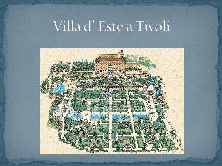 Villa d' Este a Tivoli<br />