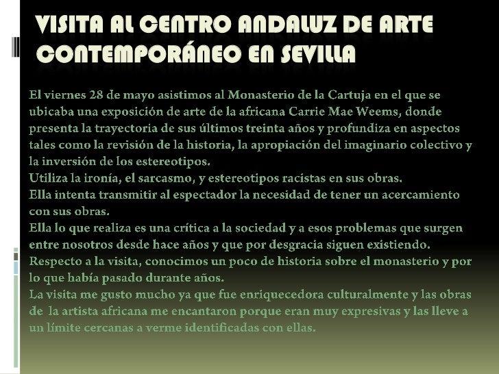 VISITA AL CENTRO ANDALUZ DE ARTE CONTEMPORÁNEO EN SEVILLA