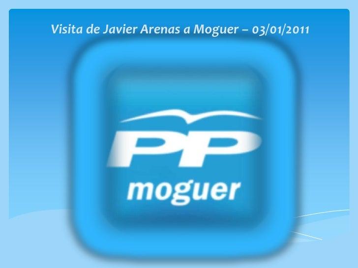 Visita de Javier Arenas a Moguer – 03/01/2011<br />