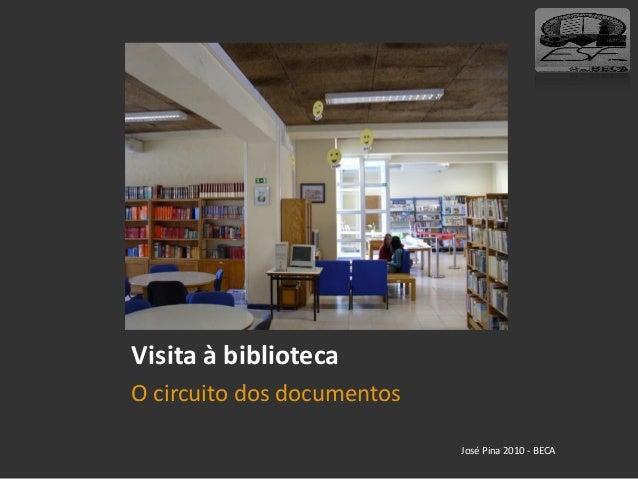 Visita à biblioteca O circuito dos documentos José Pina 2010 - BECA