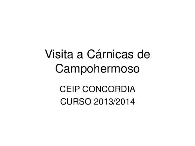 Visita a Cárnicas de Campohermoso CEIP CONCORDIA CURSO 2013/2014