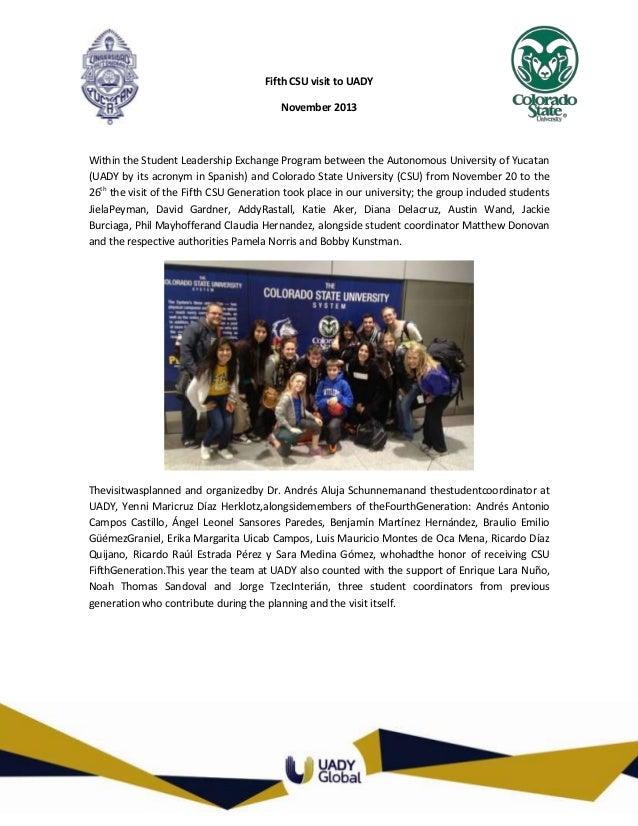 Visit of CSU Delegation 2013