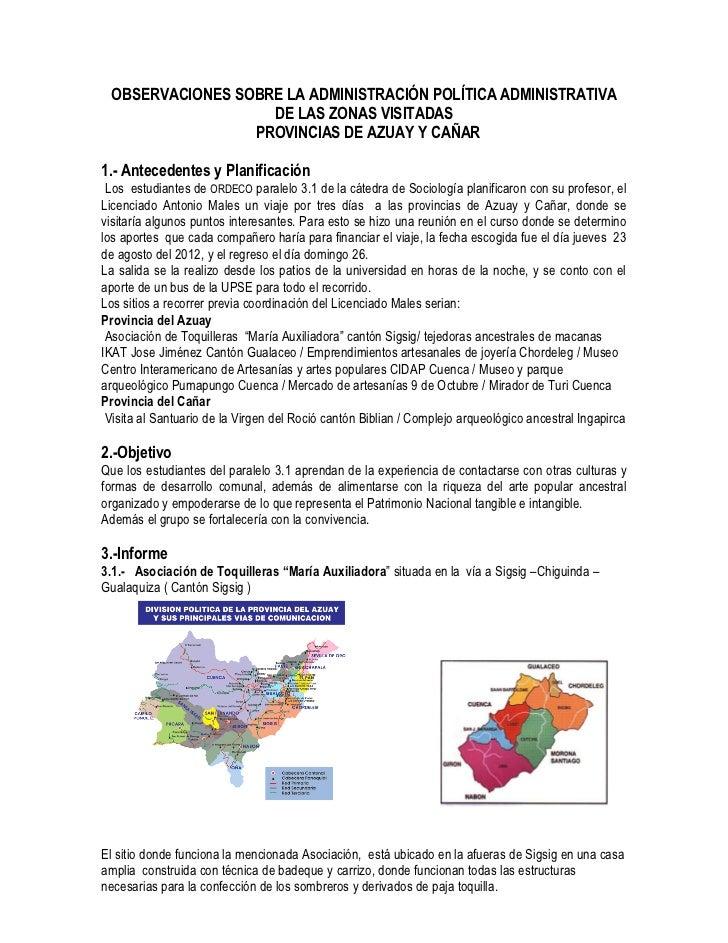 Visita de trabajo a las provincias de azuay y caña1 1