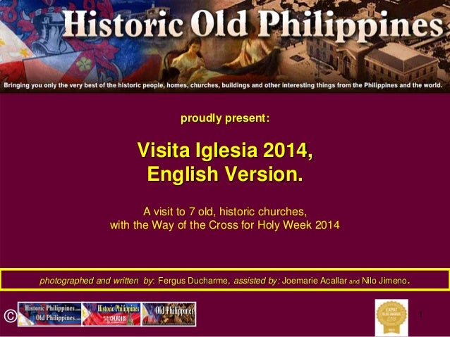 Visita Iglesia 2014 English Version