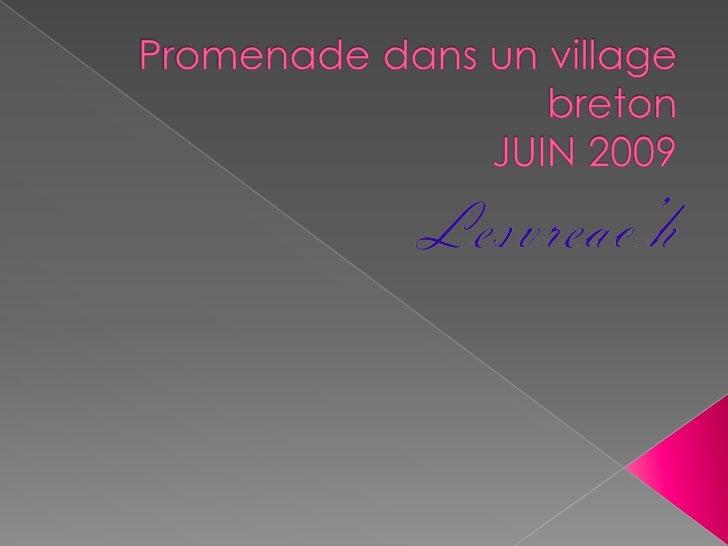 Promenade dans un village bretonJUIN 2009<br />Lesvreac'h<br />