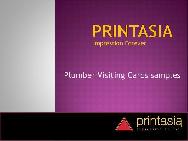 Impression Forever Plumber Visiting Cards samples