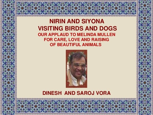 NIRIN AND SIYONA VISITING BIRDS AND DOGS OUR APPLAUD TO MELINDA MULLEN FOR CARE, LOVE AND RAISING OF BEAUTIFUL ANIMALS DIN...