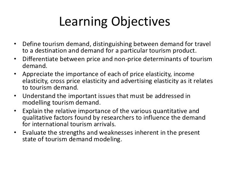 thesis tourism demand Bachelor thesis in tourism studies 14 thesis outline in image branding are being created because of increasing demand in tourism industry.