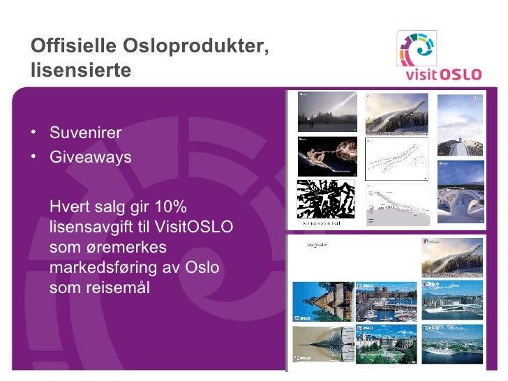 Visit Oslo Konferanse 09 Lisensprodukter