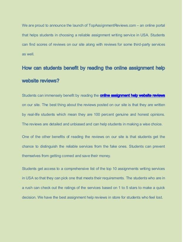 Assignment help website review