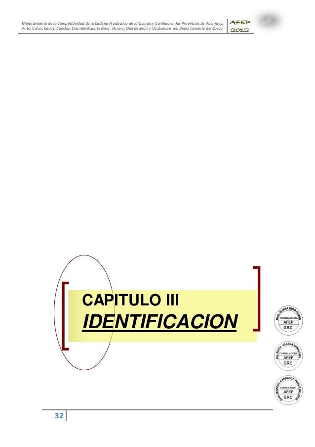 Mejoramiento de la Competitividad de la Cadena Productiva de la Quinua y Cañihua en las Provincias de Acomayo, Anta, Calca...