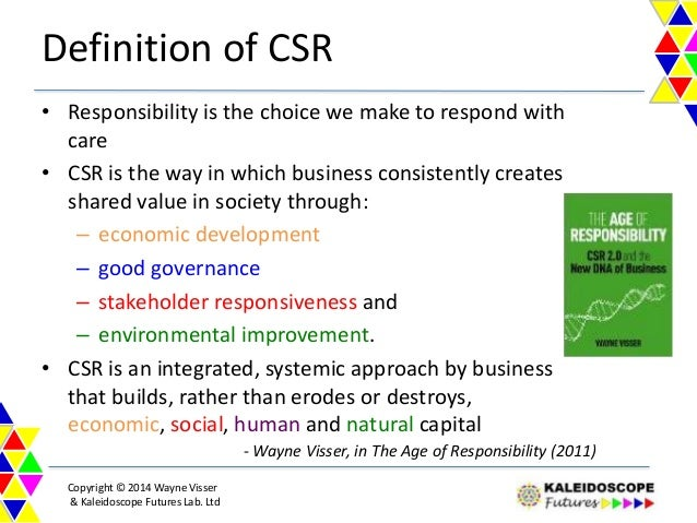 an analysis of the concept of corporate social responsibility csr Corporate social responsibility analysis commerce essay  corporate social responsibility reports mainly self  the concept behind this program is simply to.