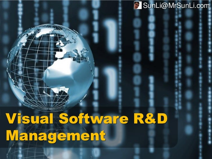 SunLi@MrSunLi.comVisual Software R&DManagement