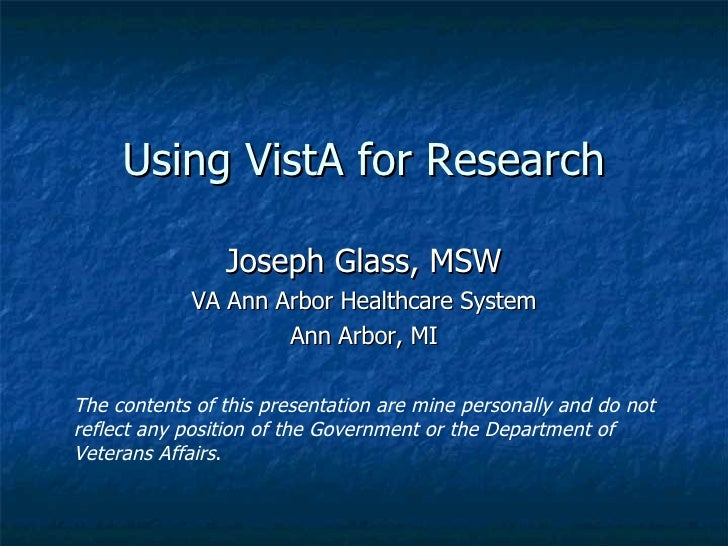 Vista For Research