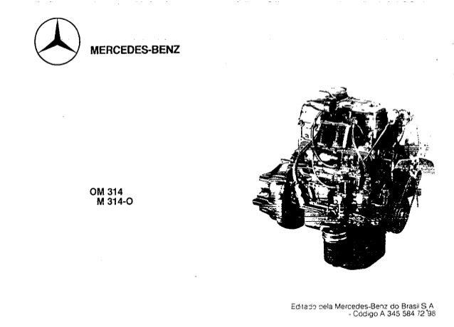 Vista explodida e manual de serviço mercedes benz om-314