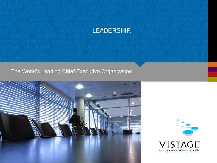 The World's Leading Chief Executive Organization<br />