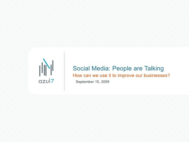 Vistage Social Media Presentation