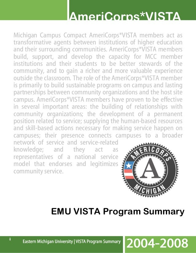 Michigan Campus Compact AmeriCorps*VISTA members act as transformative agents between institutions of higher education and...