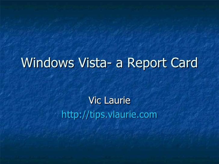 Vista Report Card