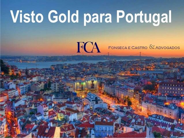 Visto Gold para Portugal