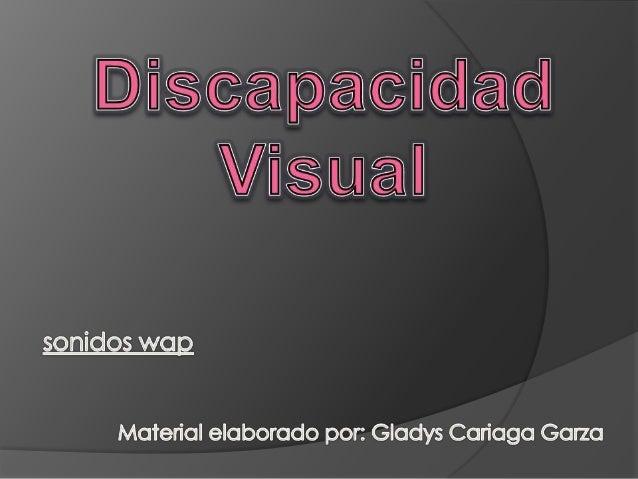 DISCAPACIDAD VISUALESTANDARIZADAS VS. INDIVIDUALIZADAS