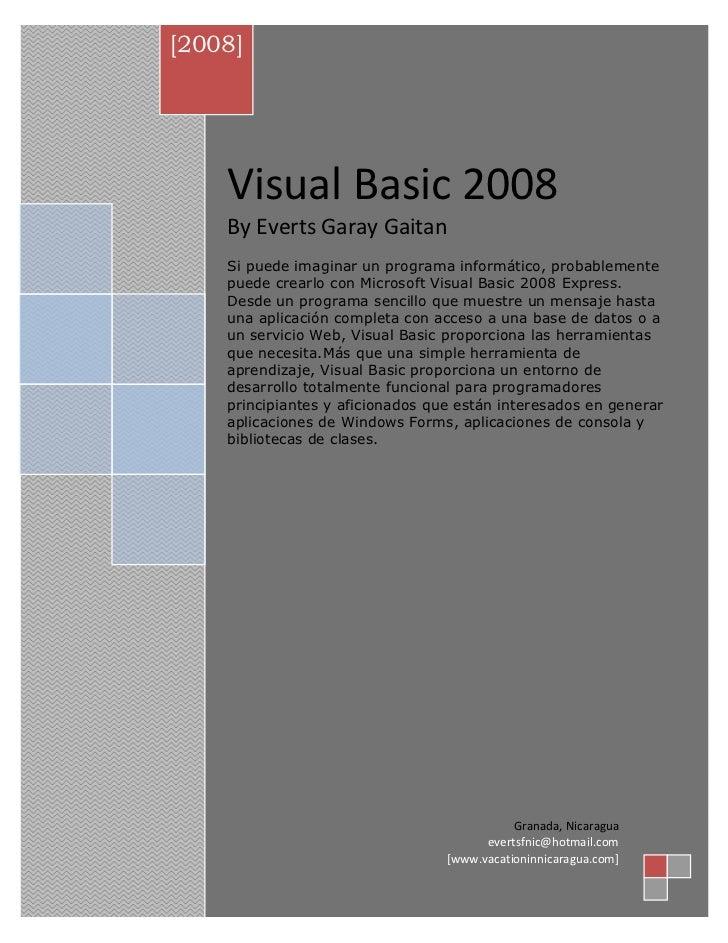 Visual basic-2008
