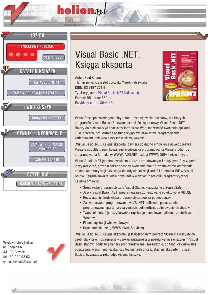 Visual Basic .NET. Księga eksperta