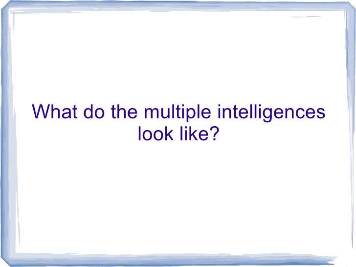 Visual Essay Multiple Intelligences