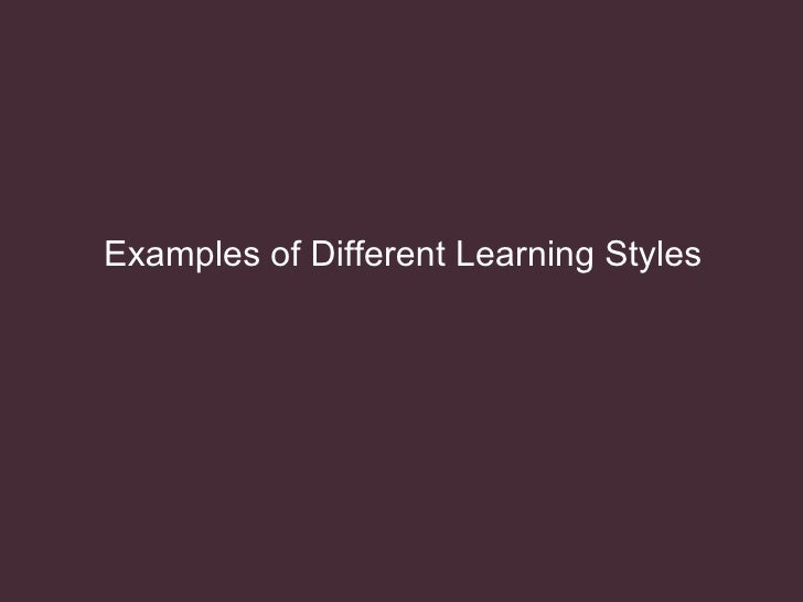 thesis about learning styles An exploratory study of learning styles in the elementary music classroom by angela j biedenbender a thesis proposal submitted in partial fulfillment.