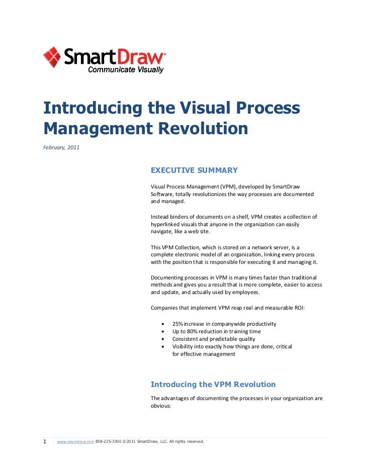 Introducing the Visual ProcessManagement RevolutionFebruary, 2011                                                   EXECUT...