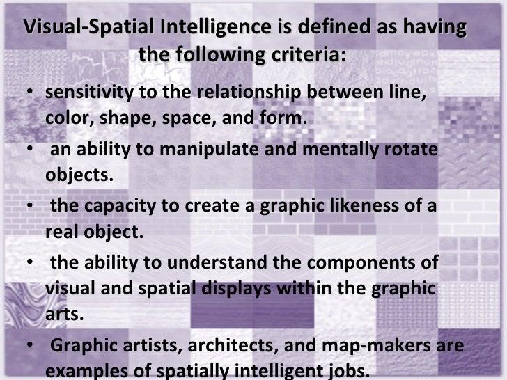visual spatial intelligence essay