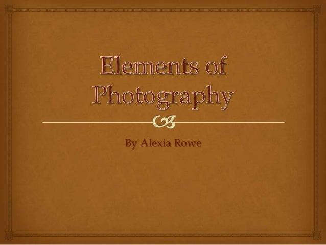 Visual composition slideshow - Alexia Rowe