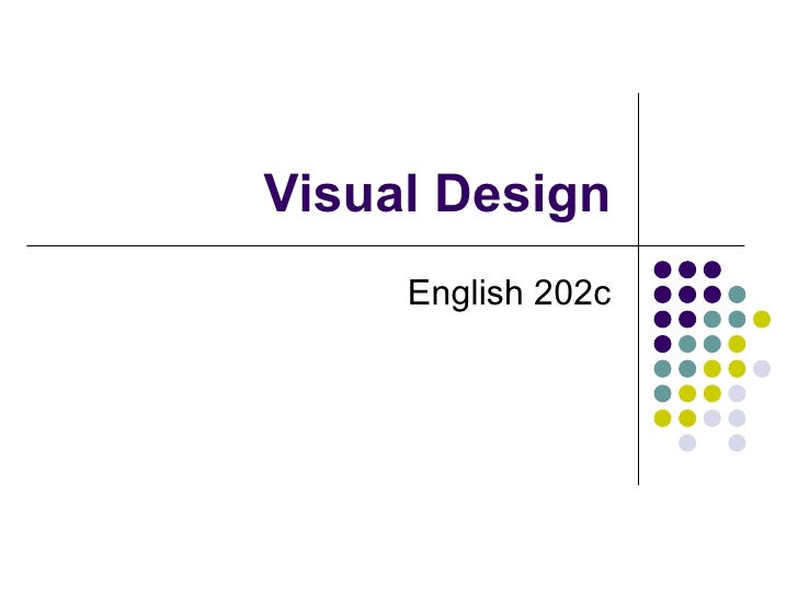 Visual Design English 202c
