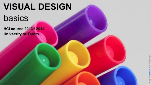 VISUAL DESIGN basics HCI course 2013 / 2014 University of Trento  Color Marks by el patojo on Flickr