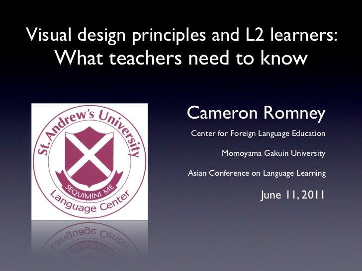 Visual design principals and l2 learners