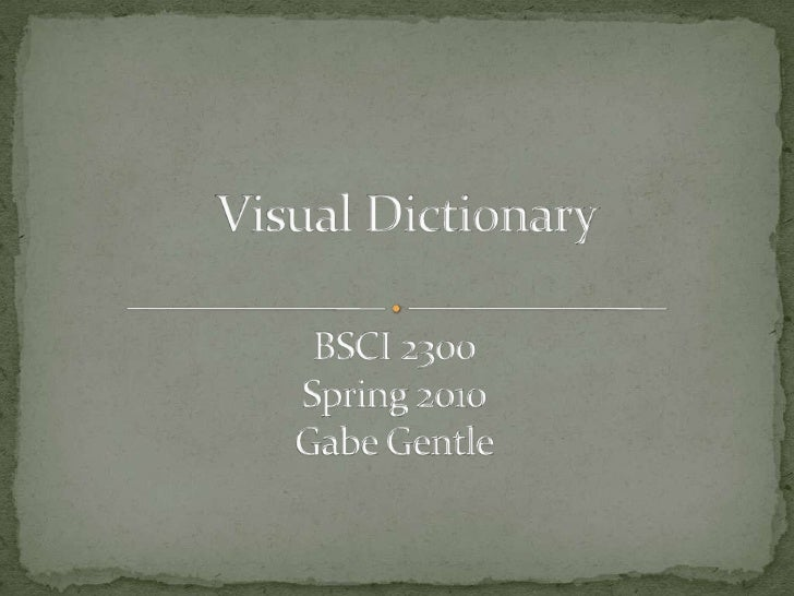 Visual Dictionary<br />BSCI 2300Spring 2010<br />