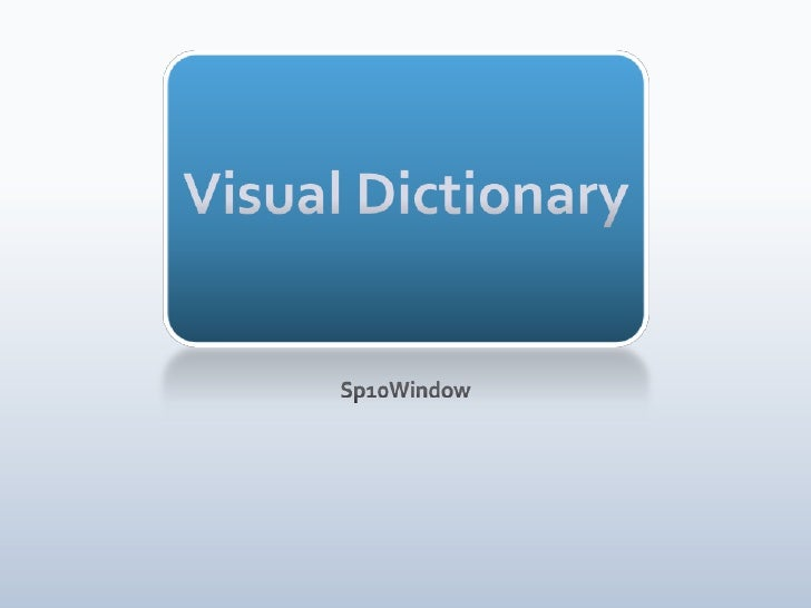 Visual Dictionary <br />Sp10Window<br />