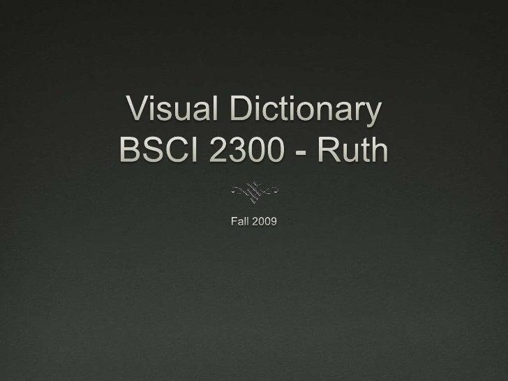 Visual DictionaryBSCI 2300 - Ruth<br />Fall 2009<br />